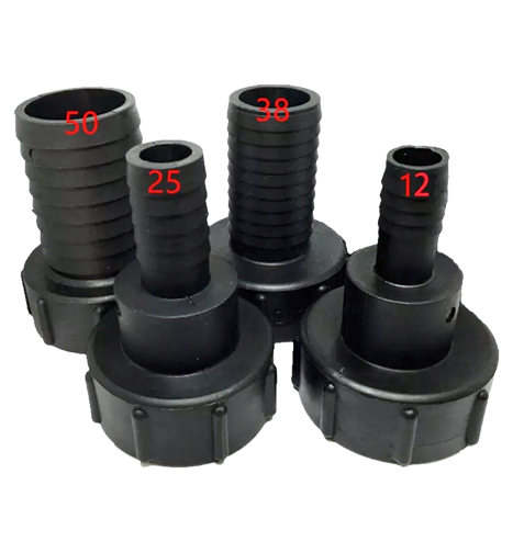 """1000Litre & 600 Litre IBC Tank connector 1/2"""" (12mm) To 2"""" (50mm) Fitting"""